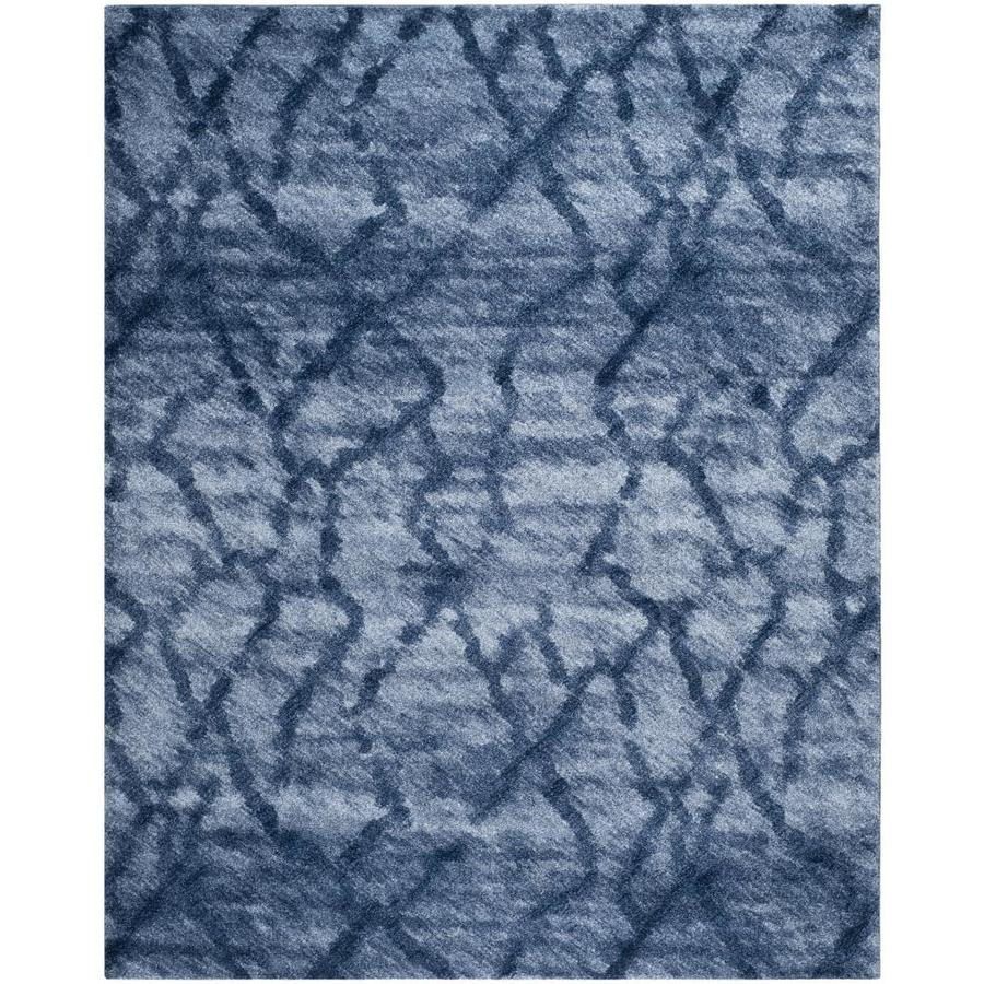 Safavieh Retro Mopani Blue/Dark Blue Rectangular Indoor Machine-made Distressed Area Rug (Common: 8 x 11; Actual: 8.75-ft W x 12-ft L)
