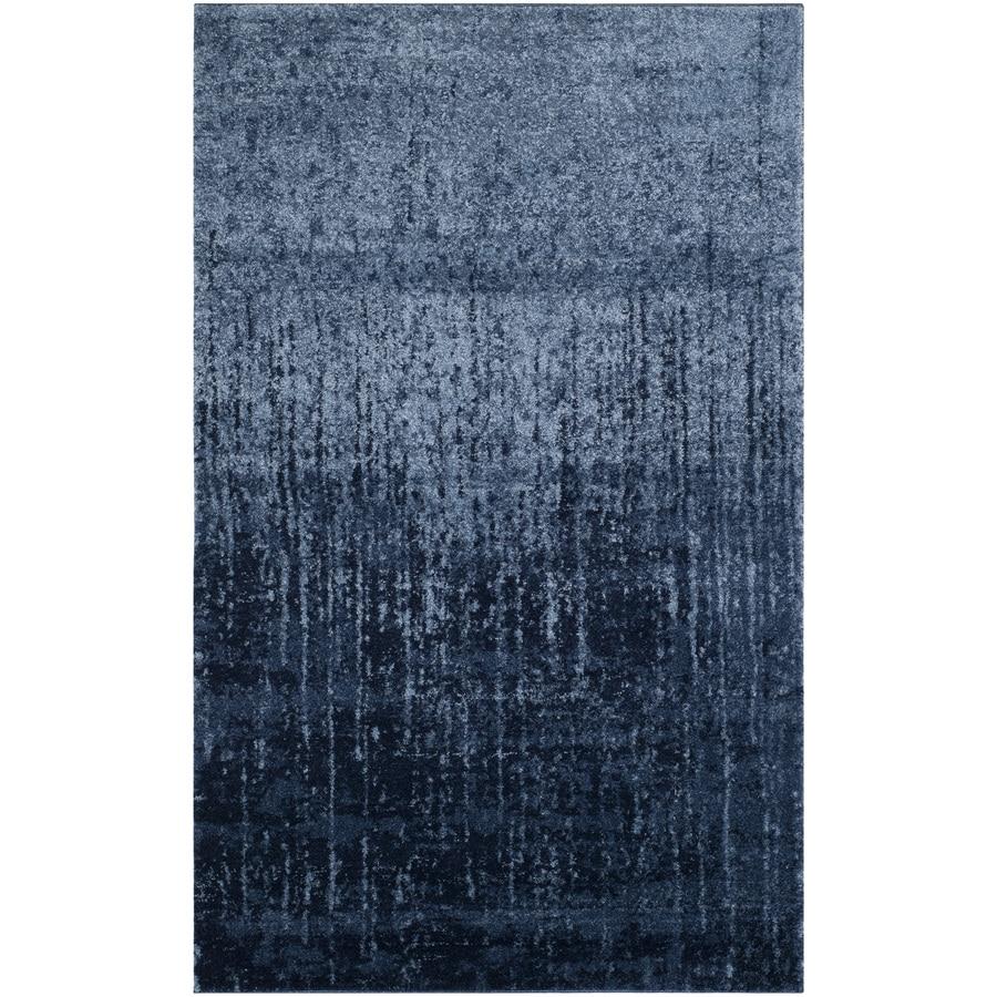 Safavieh Retro Elan Light Blue/Blue 5-ft x 8-ft