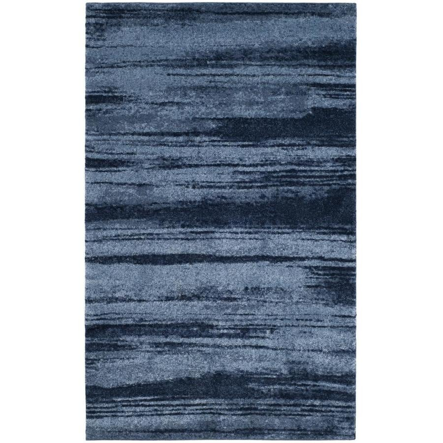 Safavieh Retro Fissure Light Blue/Blue 5-ft x 8-ft