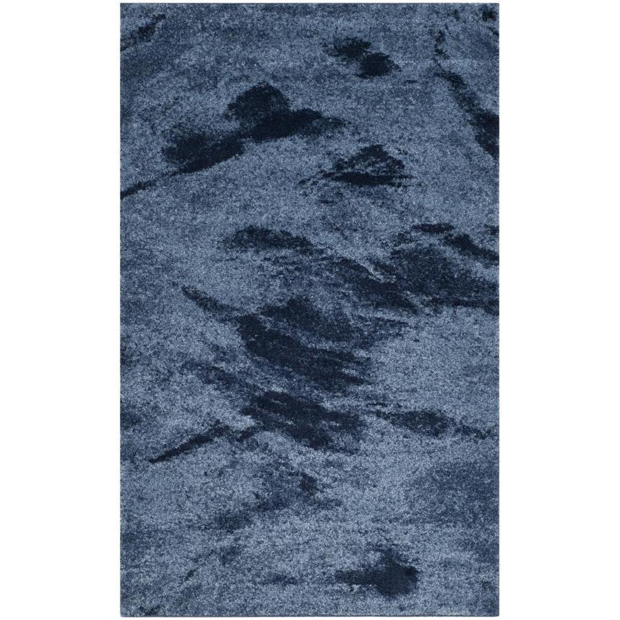 Safavieh Retro Azusa Light Blue/Blue 4-ft x 6-ft