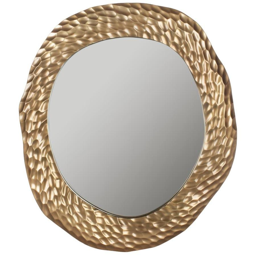 Safavieh Ursula Antique Brass Polished Oval Wall Mirror