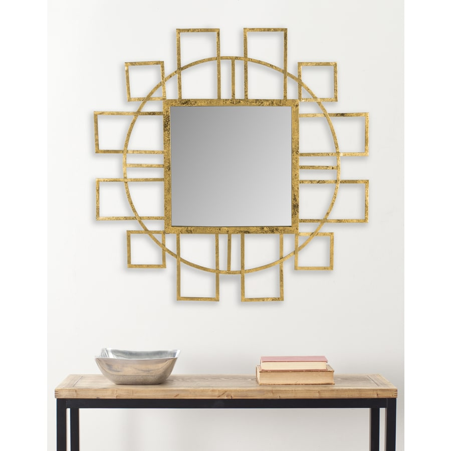 Safavieh Matrix Gold Framed Square Wall Mirror