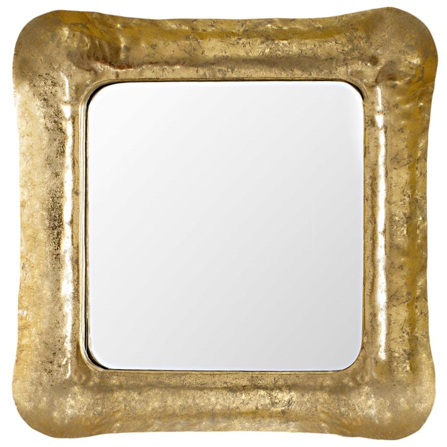 Safavieh Geri Square Iron Gold/White Polished Square Wall Mirror