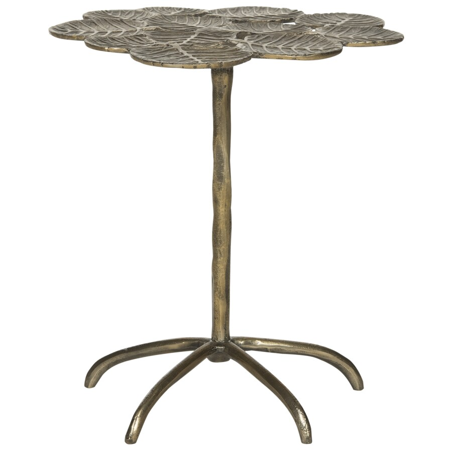 Safavieh Fox Antique Brass Round End Table