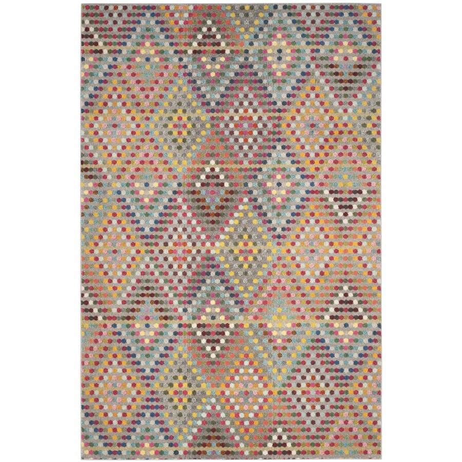 Safavieh Monaco Quilt Multi/Beige Rectangular Indoor Machine-made Area Rug (Common: 6 x 9; Actual: 6.6-ft W x 9.2-ft L)
