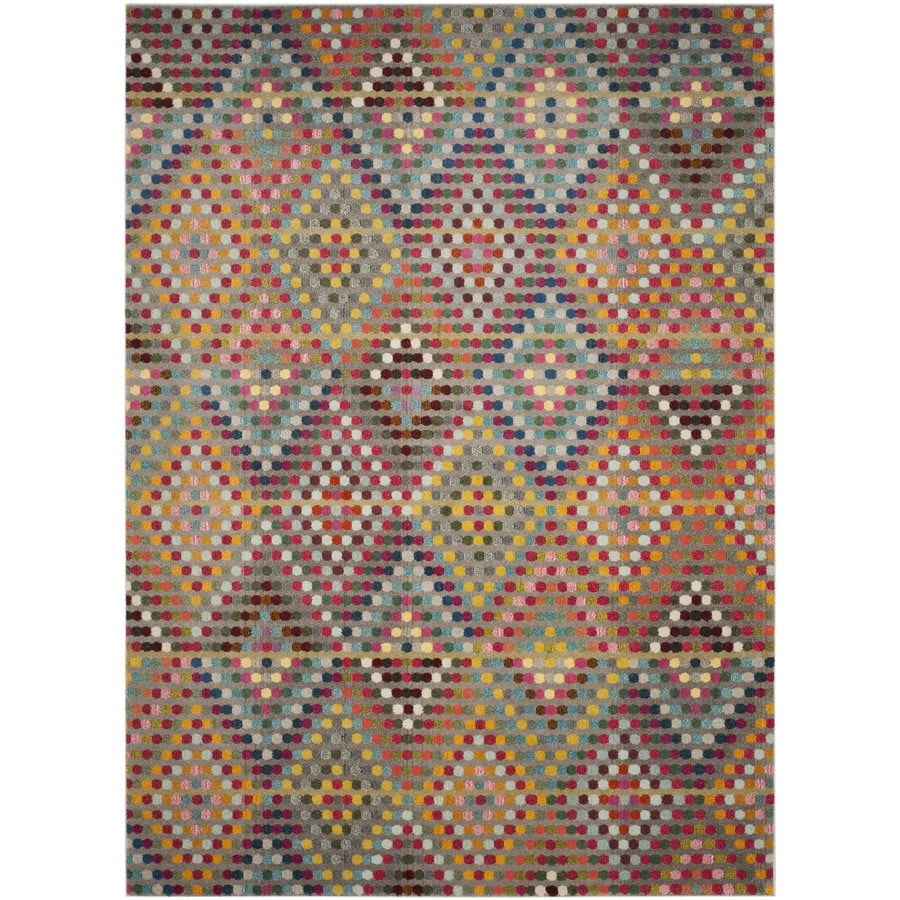 Safavieh Monaco Quilt Multi/Beige Rectangular Indoor Machine-made Area Rug (Common: 8 x 11; Actual: 8-ft W x 11-ft L)