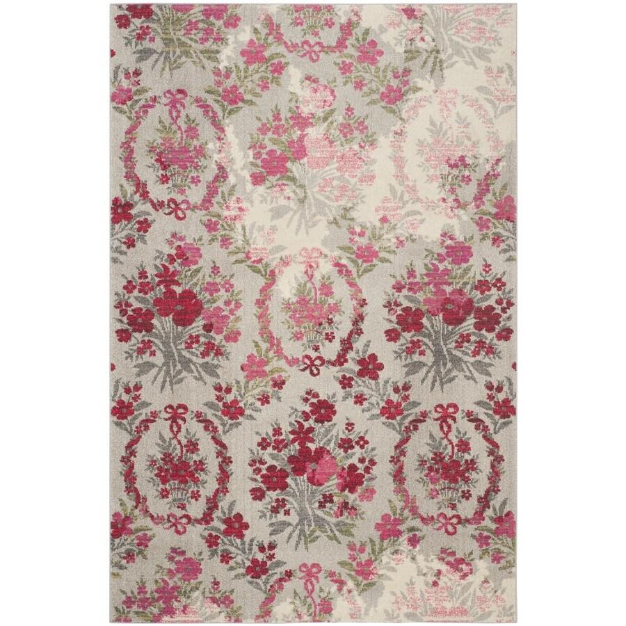 Safavieh Monaco Decatur Ivory/Pink Indoor Nature Area Rug (Common: 7 x 9; Actual: 6.7-ft W x 9.2-ft L)