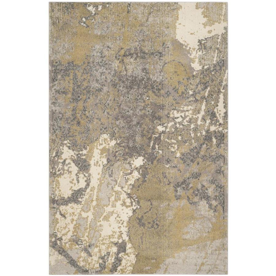 Safavieh Monaco Dint Ivory/Gray Indoor Area Rug (Common: 7 x 9; Actual: 6.7-ft W x 9.2-ft L)