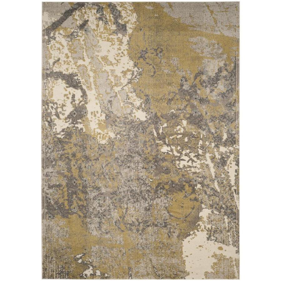 Safavieh Monaco Dint Ivory/Gray Indoor Area Rug (Common: 9 x 12; Actual: 9-ft W x 12-ft L)