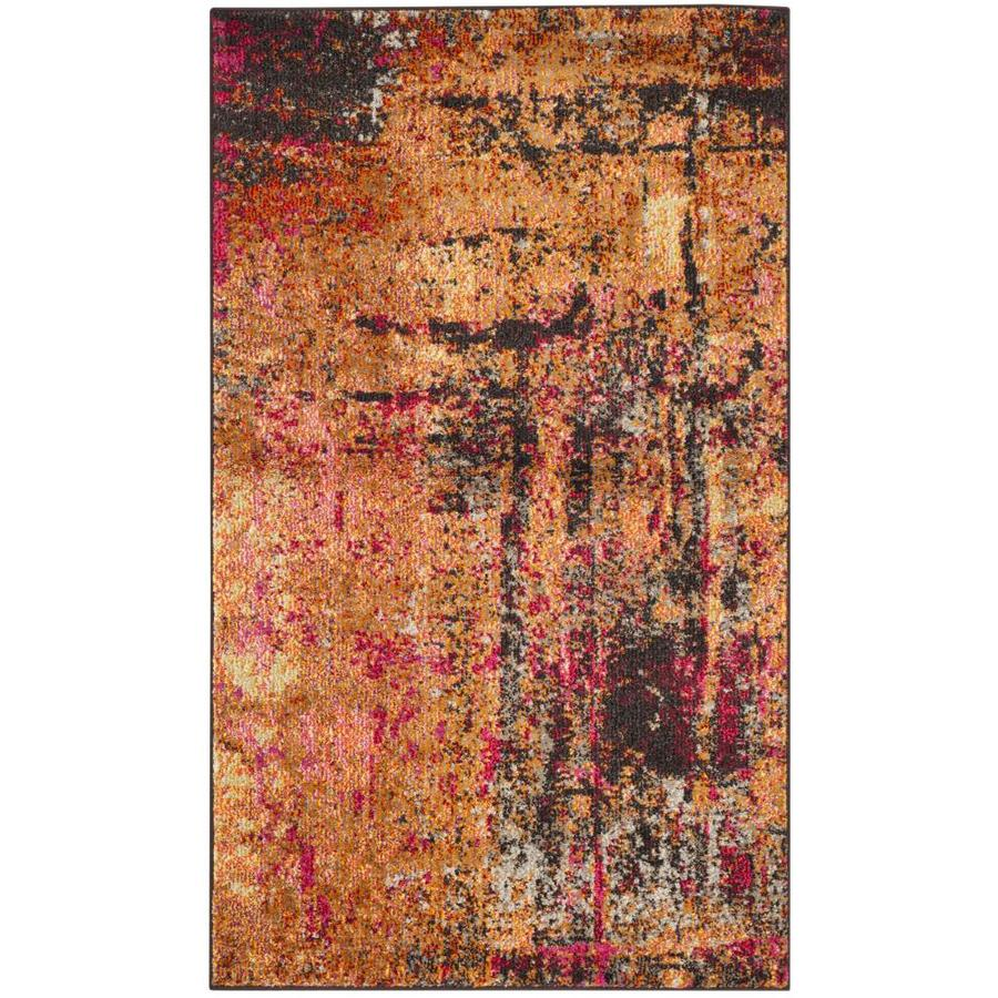 Safavieh Monaco Skild Indoor Distressed Area Rug (Common: 4 x 6; Actual: 4-ft W x 5.6-ft L)