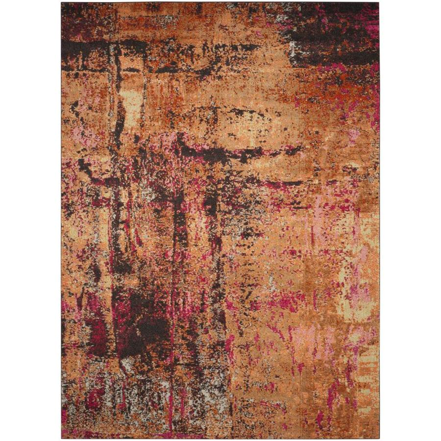 Safavieh Monaco Skild Multi Rectangular Indoor Machine-Made Distressed Area Rug (Common: 8 x 11; Actual: 8-ft W x 11-ft L)