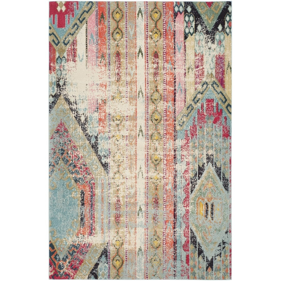 Safavieh Monaco Kolby Multi Rectangular Indoor Machine-made Distressed Area Rug (Common: 5 x 8; Actual: 5.1-ft W x 7.6-ft L)