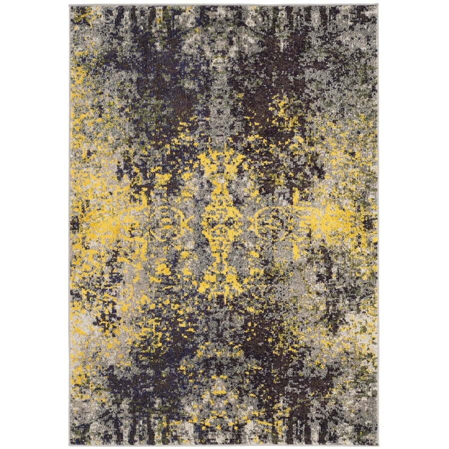 Safavieh Monaco Veras Gray Indoor Distressed Area Rug (Common: 4 x 6; Actual: 4-ft W x 5.6-ft L)