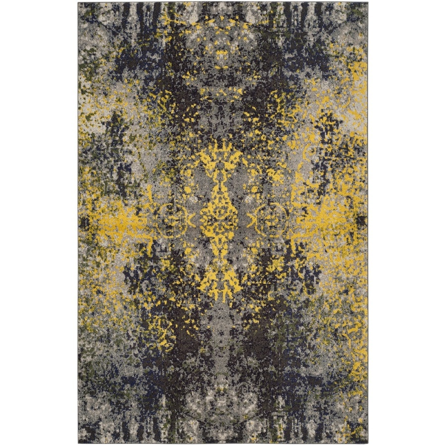 Safavieh Monaco Veras Gray Indoor Distressed Area Rug (Common: 5 x 8; Actual: 5.1-ft W x 7.6-ft L)
