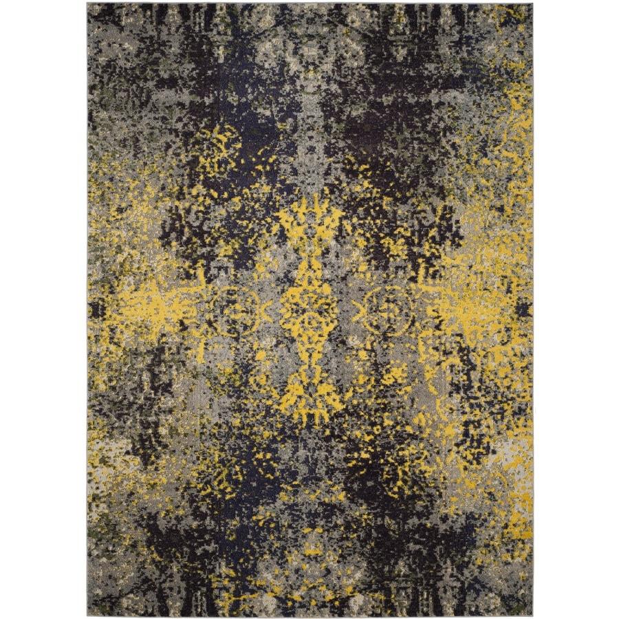 Safavieh Monaco Veras Gray Indoor Distressed Area Rug (Common: 9 x 12; Actual: 9-ft W x 12-ft L)