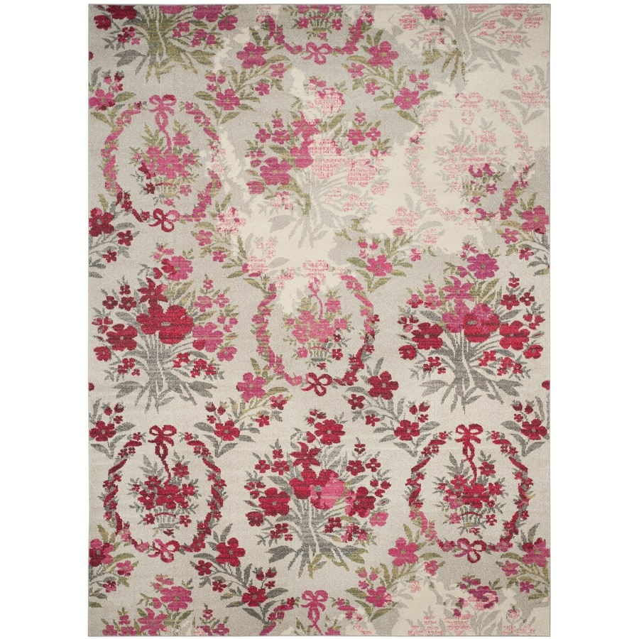 Safavieh Monaco Decatur Ivory/Pink Rectangular Indoor Machine-made Nature Area Rug (Common: 9 x 12; Actual: 9-ft W x 12-ft L)