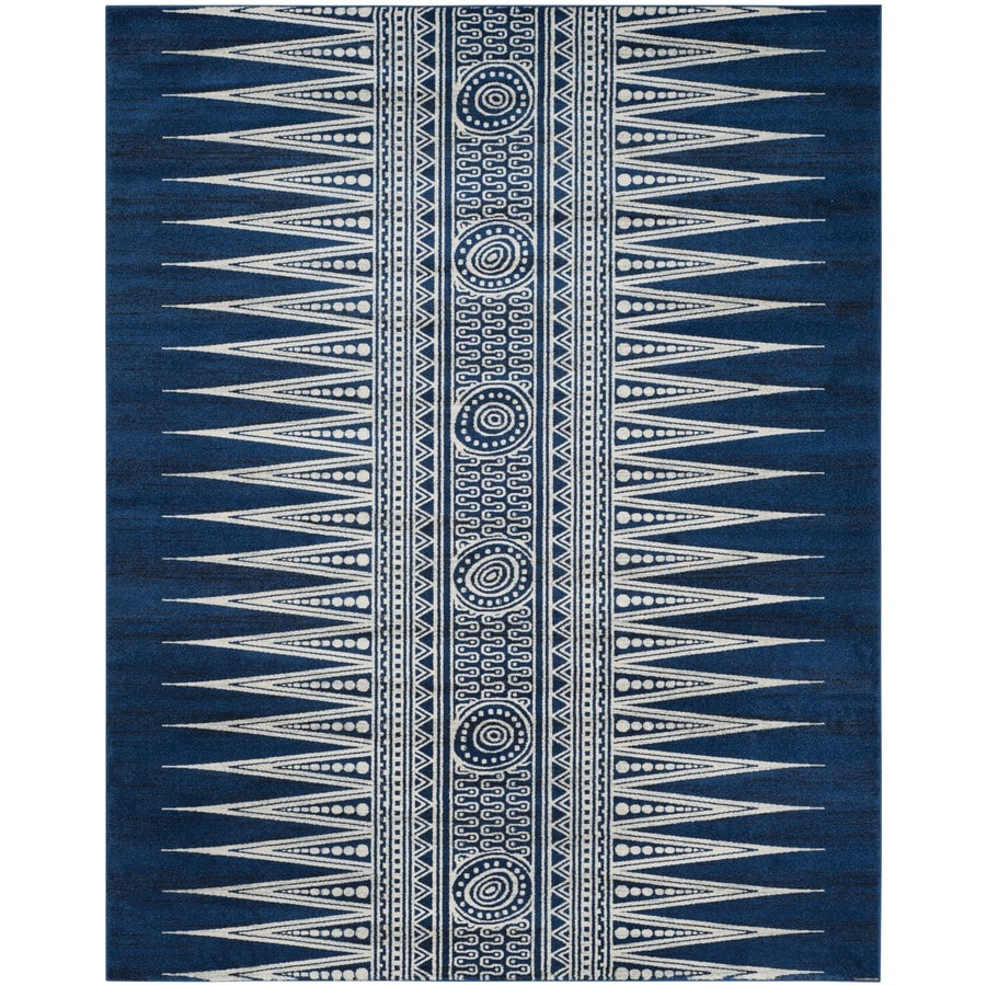 Safavieh Evoke Layla Royal/Ivory Rectangular Indoor Machine-Made Oriental Area Rug (Common: 8 x 10; Actual: 8-ft W x 10-ft L)