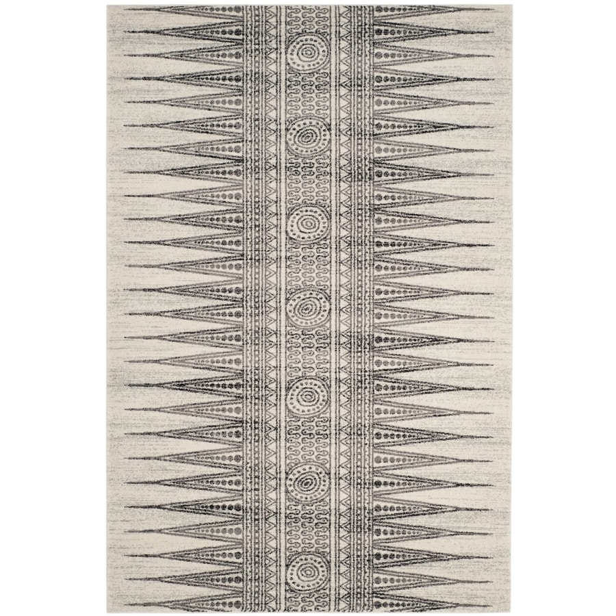 Safavieh Evoke Layla Ivory/Gray Indoor Oriental Area Rug (Common: 5 x 8; Actual: 5.1-ft W x 7.5-ft L)
