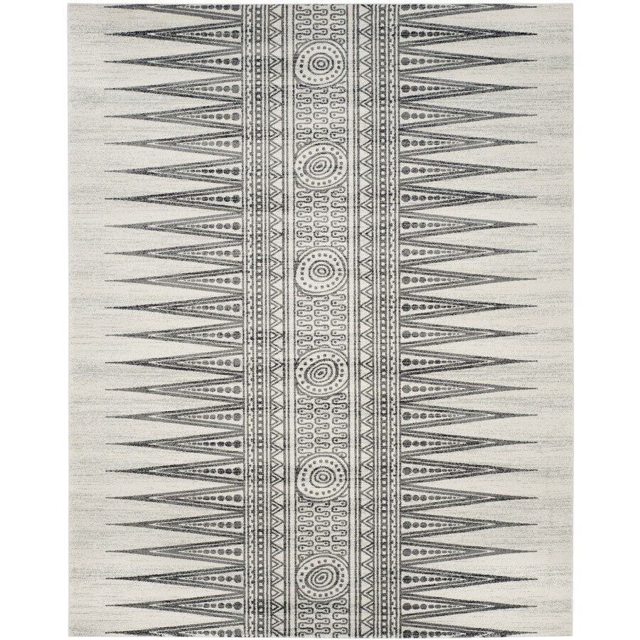 Safavieh Evoke Layla Ivory/Gray Rectangular Indoor Machine-Made Oriental Area Rug (Common: 8 x 10; Actual: 8-ft W x 10-ft L)