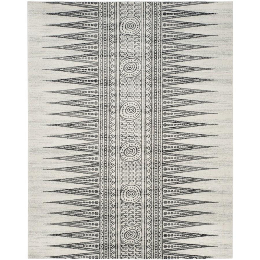 Safavieh Evoke Layla Ivory/Gray Rectangular Indoor Machine-Made Oriental Area Rug (Common: 9 x 12; Actual: 9-ft W x 12-ft L)
