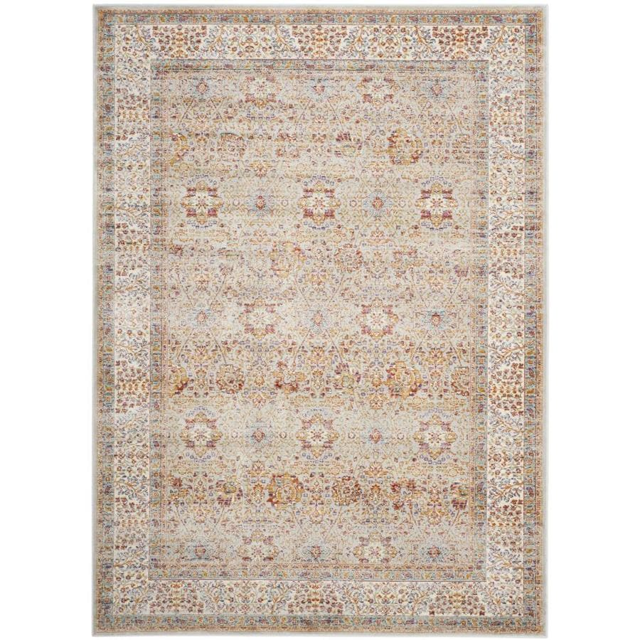 Safavieh Sevilla Fino Silver Ivory Indoor Area Rug Common