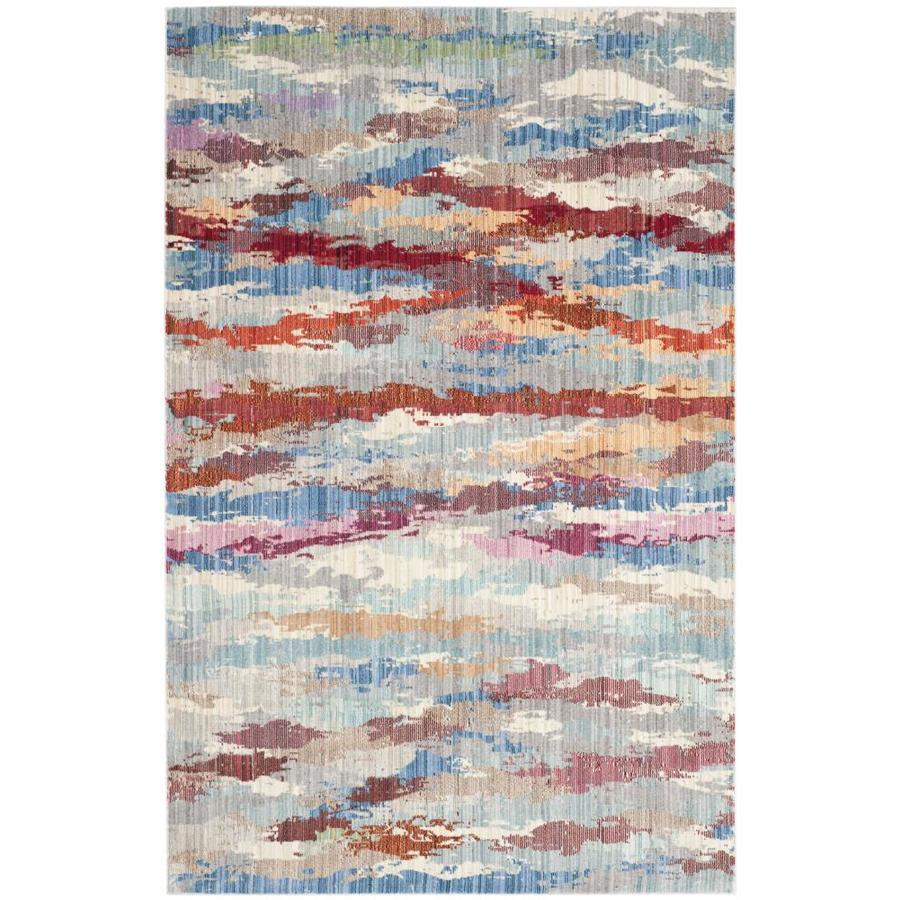 Safavieh Valencia Rhodes Indoor Distressed Area Rug (Common: 4 x 6; Actual: 4-ft W x 6-ft L)