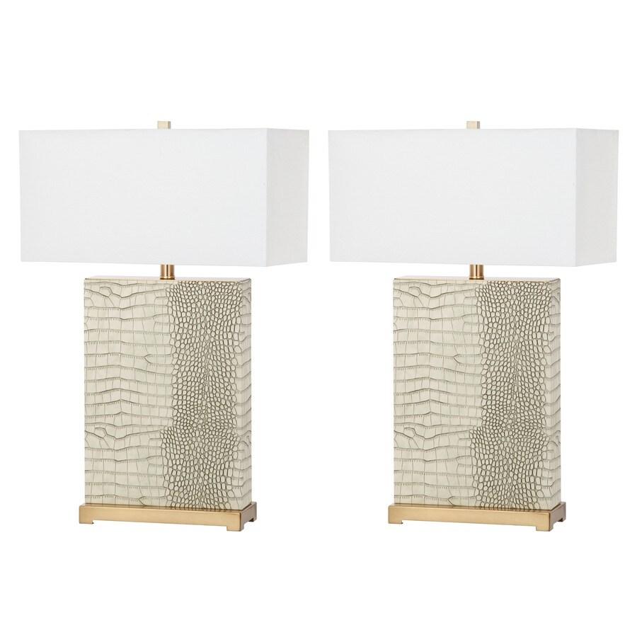 Safavieh Joyce 2-Piece Lamp Set with Off-White Shades