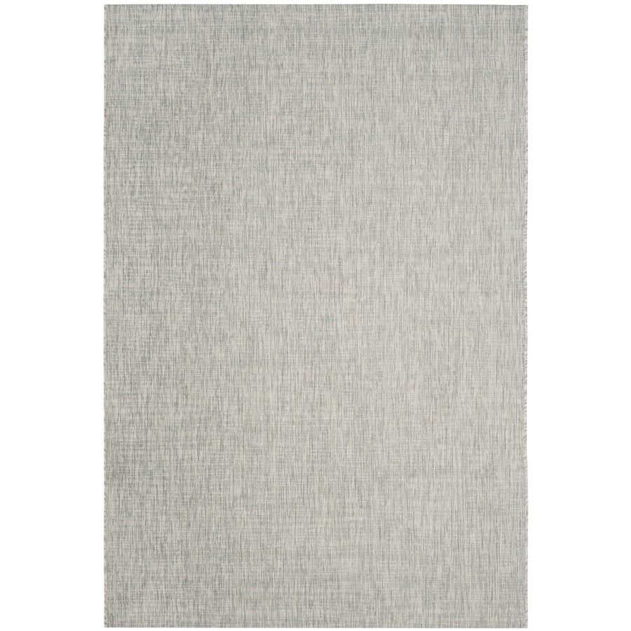 Safavieh Courtyard Acklins Gray/Turquoise Rectangular Indoor/Outdoor Machine-Made Coastal Area Rug (Common: 4 x 5; Actual: 4-ft W x 5.58-ft L)