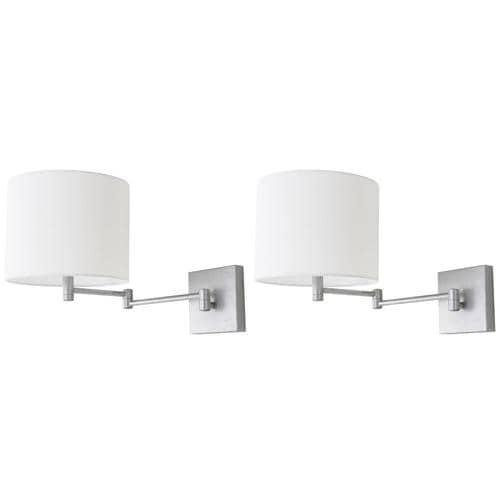 Safavieh Ventura 22 5 In W 2 Light Silver Transitional Wall Sconce In The Wall Sconces Department At Lowes Com