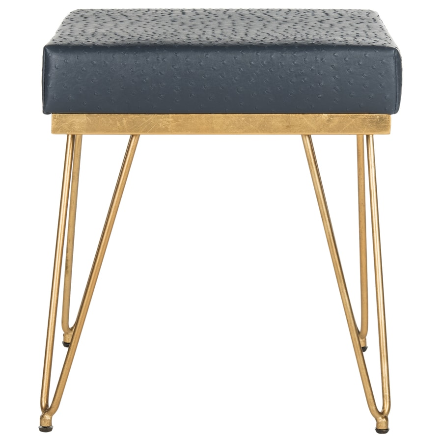 Shop Safavieh Jenine Contemporary Navy Gold Accent Bench At