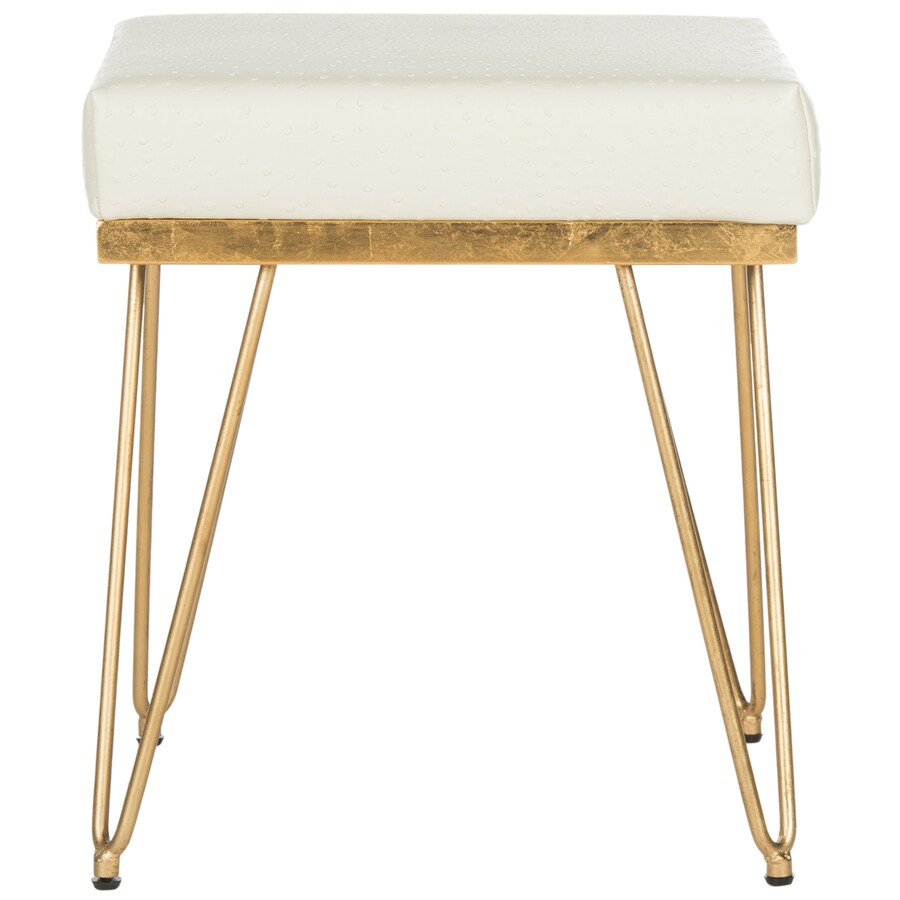 Safavieh Jenine Contemporary Creme/Gold Accent Bench