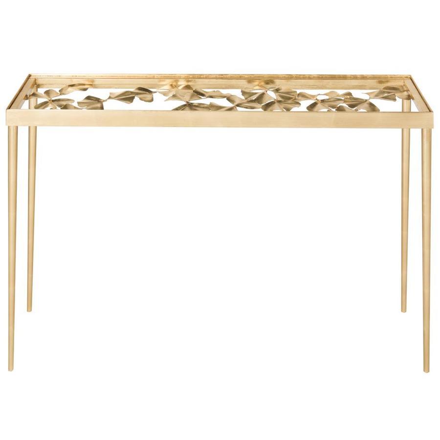 Safavieh Fox Antique Gold Leaf Rectangular Console Table