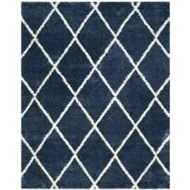 77f1d492035 Safavieh Montreal Laval Shag Blue Ivory Indoor Area Rug (Common  8 x 10