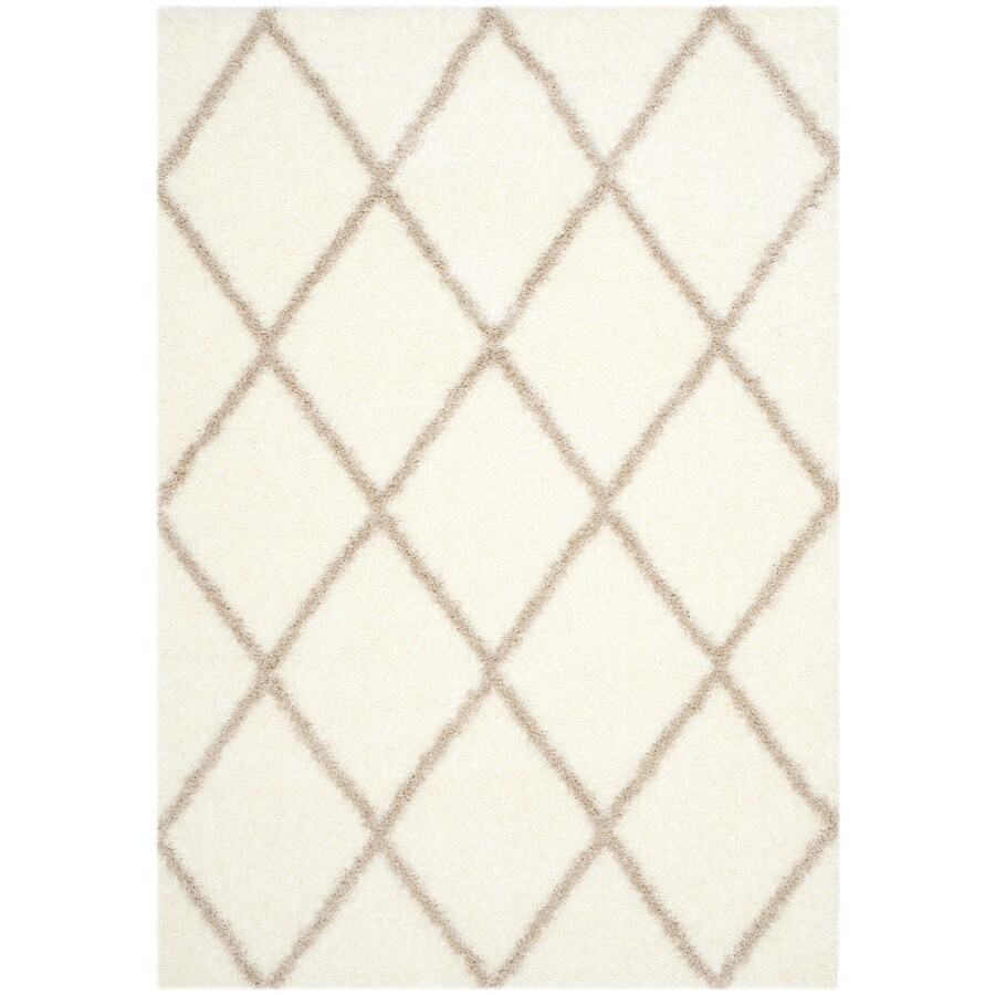 Safavieh Montreal Laval Shag Ivory/Beige Rectangular Indoor Area Rug (Common: 5 x 8; Actual: 5.3-ft W x 7.5-ft L)
