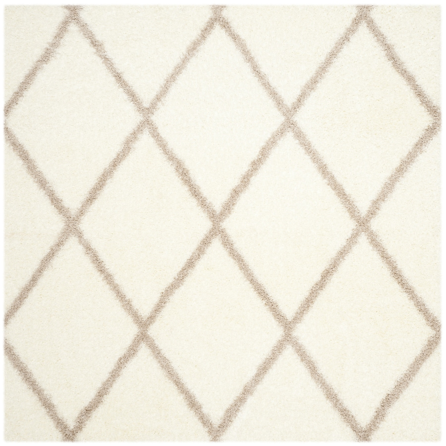 Safavieh Montreal Laval Shag Ivory/Beige Square Indoor Area Rug (Common: 7 x 7; Actual: 6.6-ft W x 6.6-ft L)