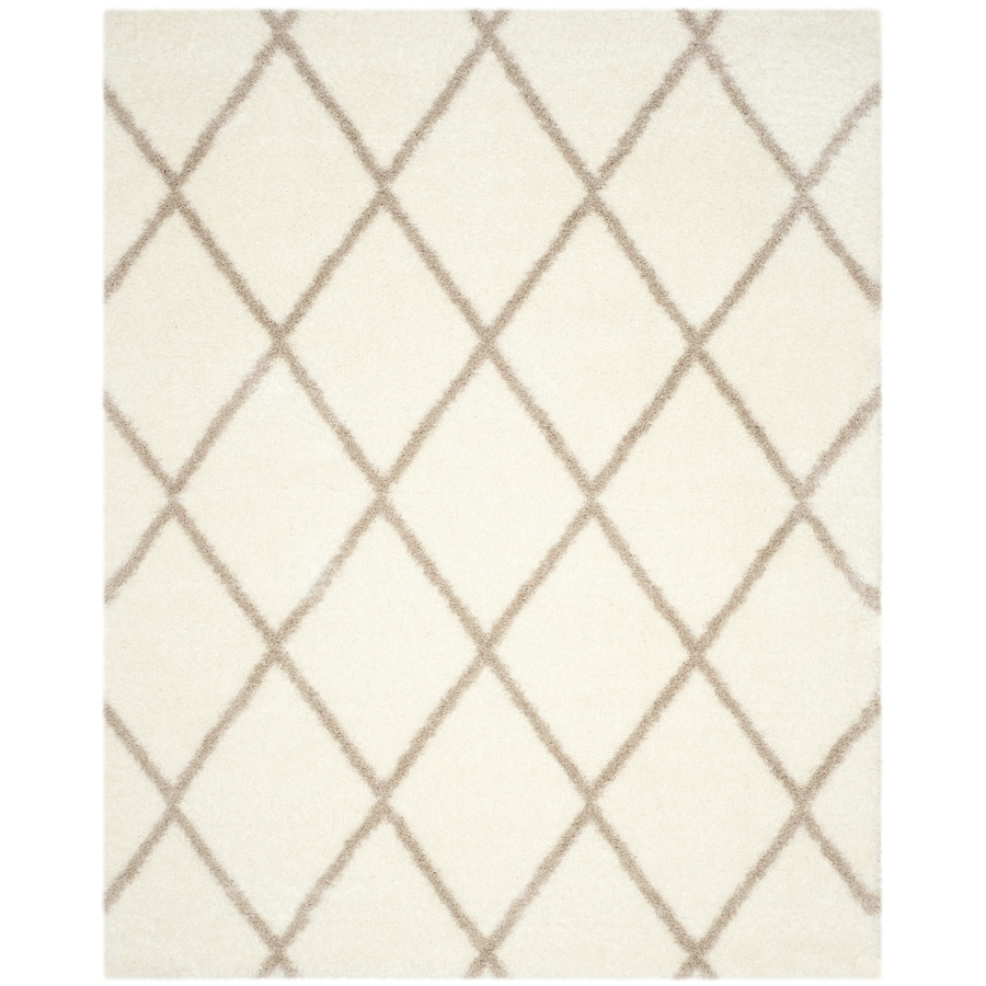 Safavieh Montreal Laval Shag Ivory/Beige Rectangular Indoor Area Rug (Common: 8 x 10; Actual: 8-ft W x 10-ft L)