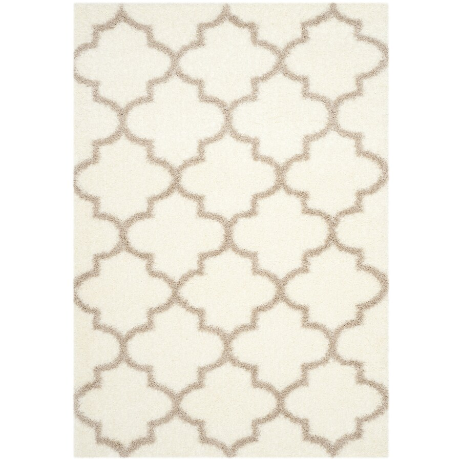 Safavieh Montreal Mirabel Shag Ivory/Beige Rectangular Indoor Area Rug (Common: 4 x 6; Actual: 4-ft W x 6-ft L)
