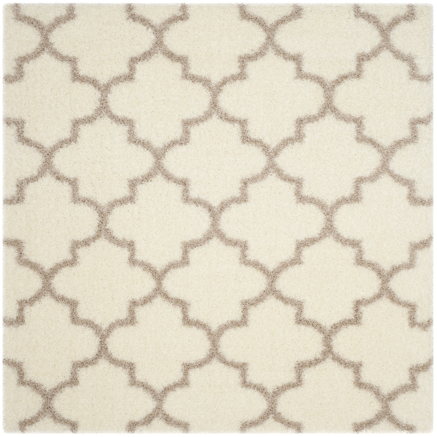 Safavieh Montreal Mirabel Shag Ivory/Beige Square Indoor Area Rug (Common: 7 x 7; Actual: 6.6-ft W x 6.6-ft L)