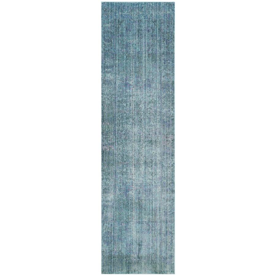 Safavieh Valencia Nazarie Turquoise/Multi Rectangular Indoor Machine-made Distressed Runner (Common: 2 x 8; Actual: 2.25-ft W x 8-ft)