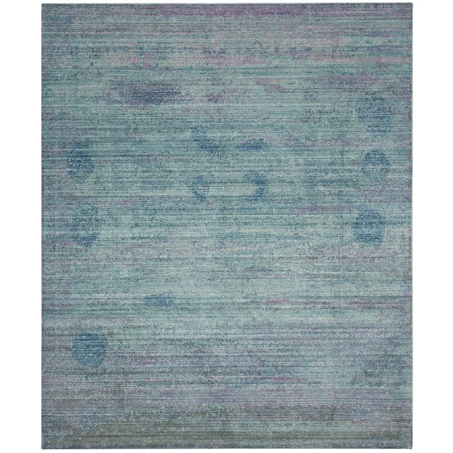 Safavieh Valencia Nazarie Turquoise Indoor Distressed Area Rug (Common: 8 x 10; Actual: 8-ft W x 10-ft L)