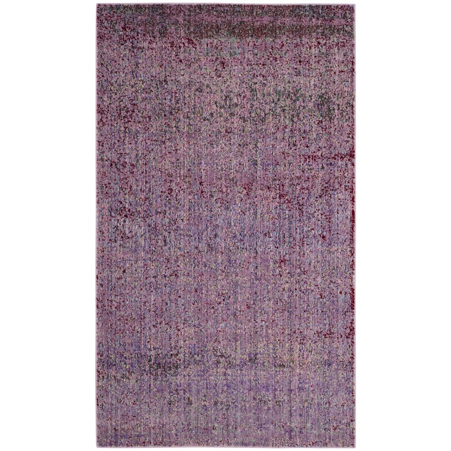Safavieh Valencia Nazarie Lavander Rectangular Indoor Machine-Made Distressed Area Rug (Common: 4 x 6; Actual: 4-ft W x 6-ft L)