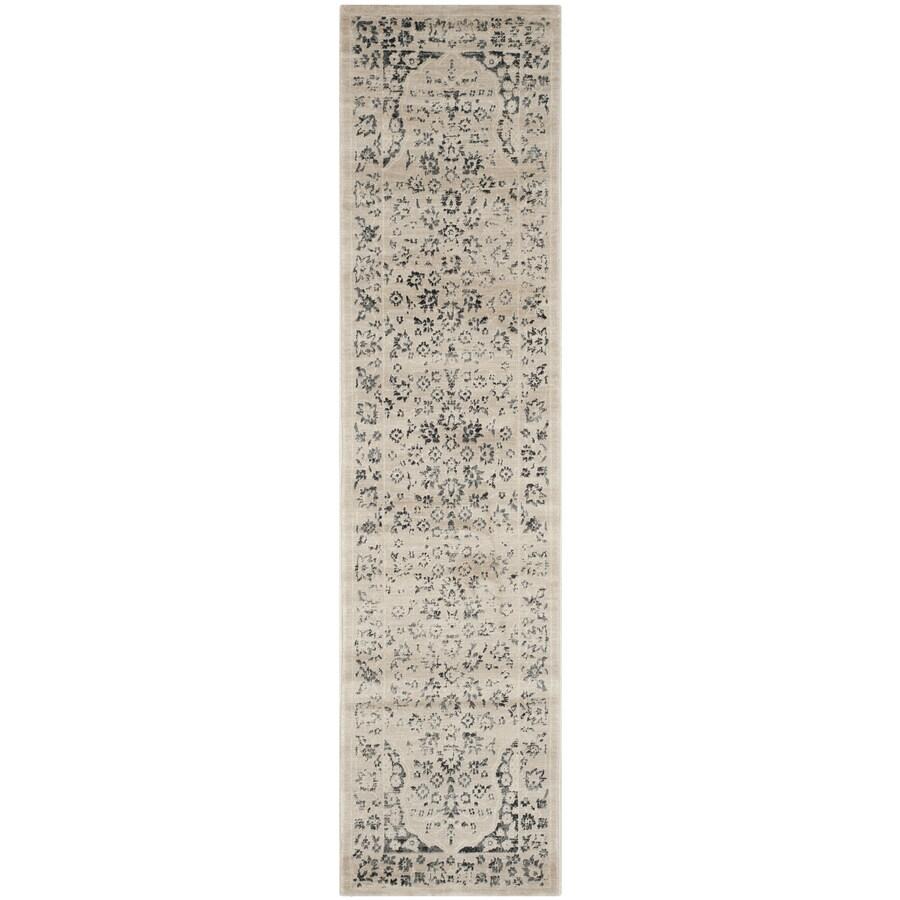 Safavieh Evoke Forst Beige/Blue Indoor Oriental Runner (Common: 2 x 8; Actual: 2-ft W x 8-ft L)