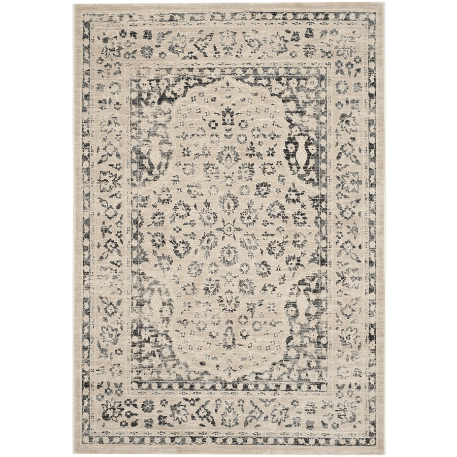 Safavieh Evoke Forst Beige/Blue Indoor Oriental Area Rug (Common: 5 x 8; Actual: 5.1-ft W x 7.5-ft L)