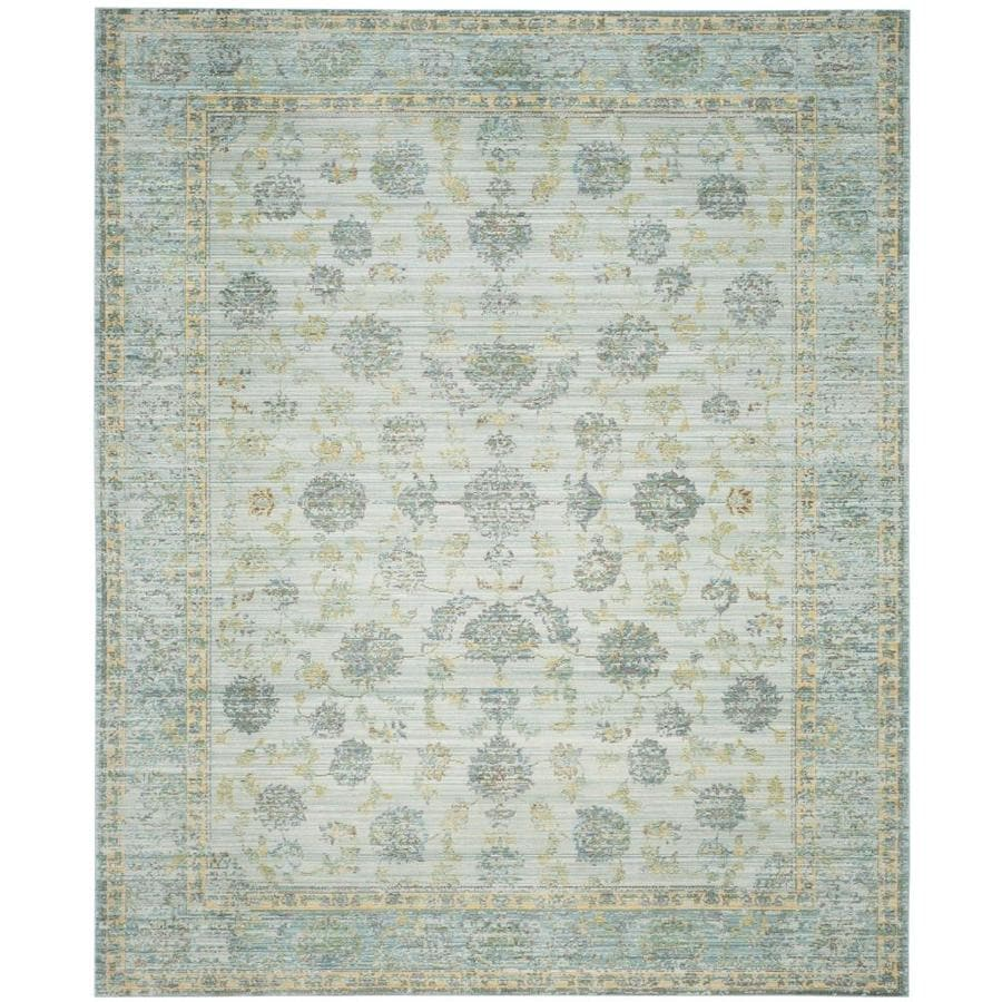 Safavieh Valencia Dinesh Light Blue/Turquoise Rectangular Indoor Machine-made Distressed Area Rug (Common: 8 x 10; Actual: 8-ft W x 10-ft L)
