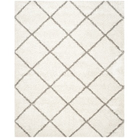 Safavieh Hudson Beckham Shag Ivory/Gray Indoor Moroccan Area Rug (Common: 10 x 14; Actual: 10-ft W x 14-ft L)