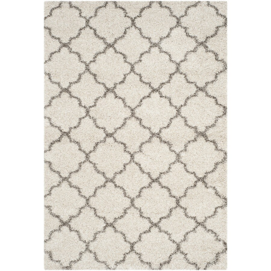 Safavieh Hudson Shag Ivory/Gray Rectangular Indoor Machine-Made Moroccan Area Rug (Common: 10 x 14; Actual: 11-ft W x 15-ft L)