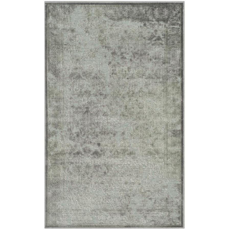 Safavieh Paradise Ryne Light Gray/Spruce Rectangular Indoor Machine-made Distressed Throw Rug (Common: 2 x 4; Actual: 2.583-ft W x 4-ft L)