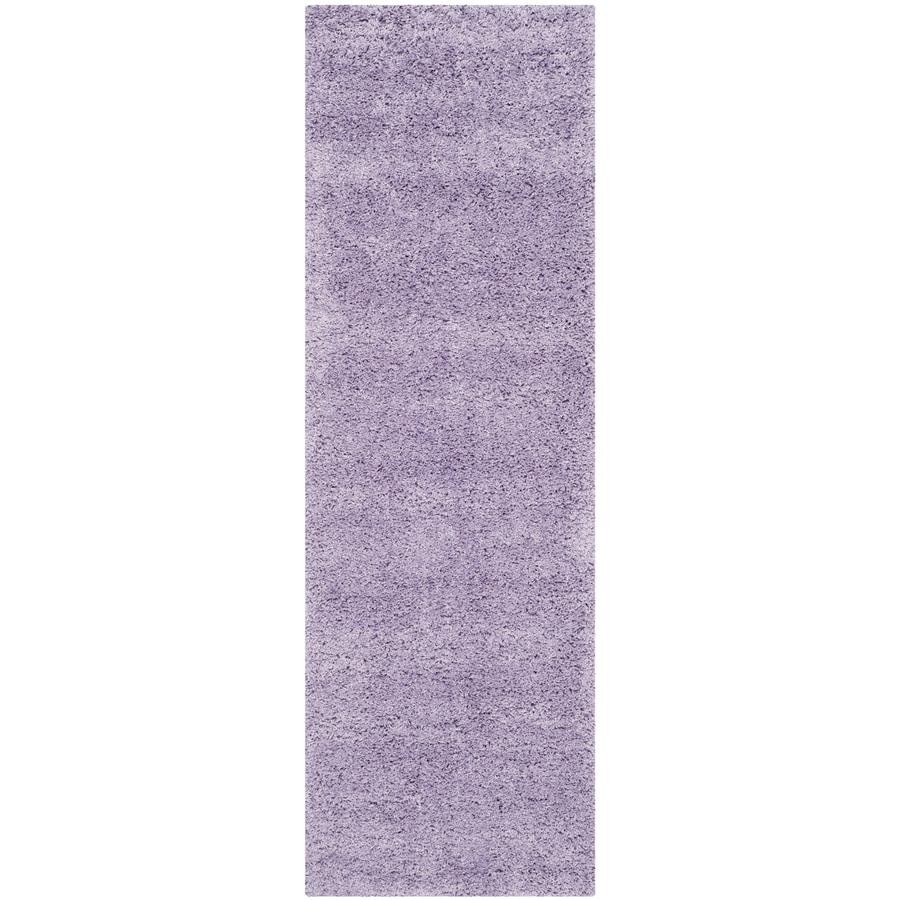 Safavieh California Shag Lilac Rectangular Indoor Machine-made Runner (Common: 2 x 11; Actual: 2.25-ft W x 11-ft L)
