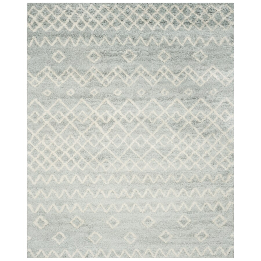 Safavieh Casablanca Limane Shag 8 X 10 Blue Ivory Indoor Abstract Moroccan Handcrafted Area Rug In The Rugs Department At Lowes Com