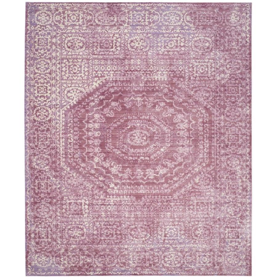 Safavieh Valencia Konye Fuchsia Indoor Distressed Area Rug (Common: 9 x 12; Actual: 9-ft W x 12-ft L)